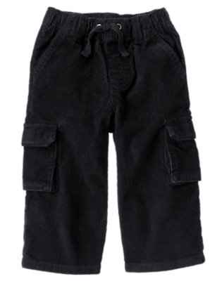 Gym Navy Corduroy Cargo Pant by Gymboree