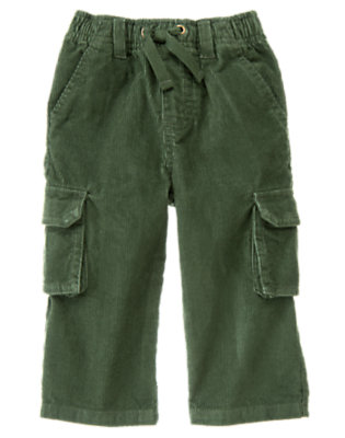 Forest Green Corduroy Cargo Pant by Gymboree