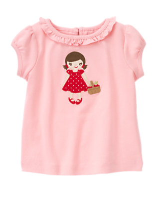 Blossom Pink Ruffle Girl Tee by Gymboree