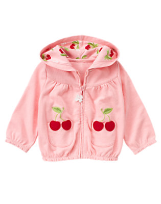 Blossom Pink Cherry Pocket Hoodie by Gymboree