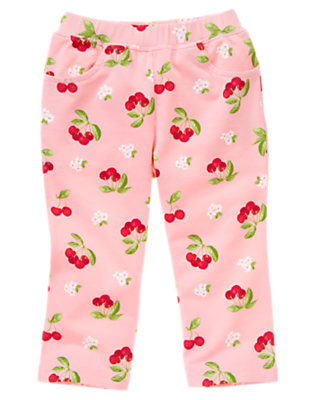 Blossom Pink Cherry Cherry Print Knit Pant by Gymboree