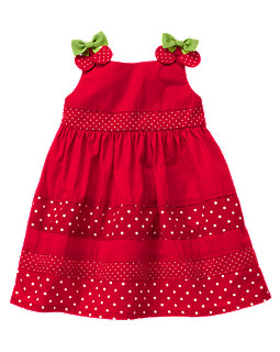 Cherry Bow Dot Sundress
