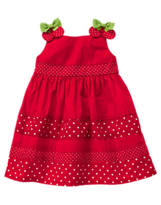 Cherry Red Cherry Bow Dot Sundress by Gymboree