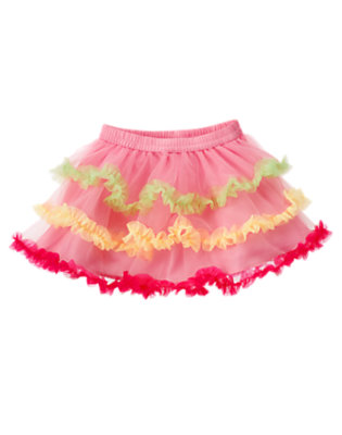 Toddler Girls Blossom Pink Ruffle Tiered Birthday Tutu by Gymboree