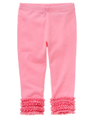 Tulip Pink Tulle Ruffle Legging by Gymboree