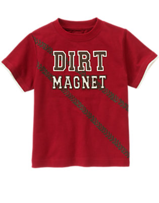 Bicycle Red Dirt Magnet Tee by Gymboree
