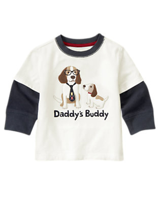 Ivory Daddy's Buddy Double Sleeve Tee by Gymboree