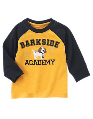 Mustard Yellow Barkside Academy Raglan Tee by Gymboree
