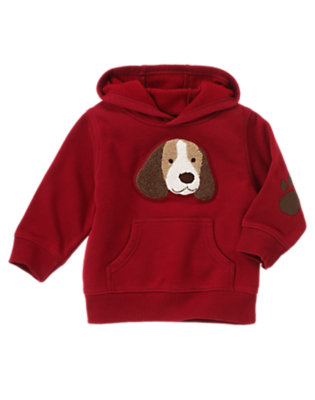 Toddler Boys Academy Red Puppy Hoodie by Gymboree