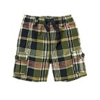 Pull-On Plaid Cargo Short