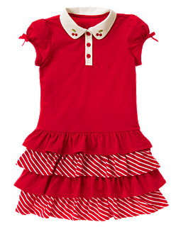 Cherry Tiered Polo Sundress