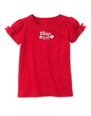 Cherry Red Daddy's Girl Tee by Gymboree