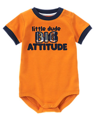 Lion Orange Big Attitude Bodysuit by Gymboree