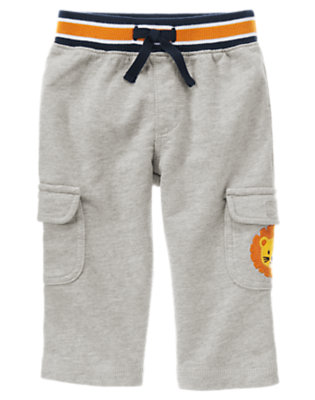 Heather Grey Lion Cargo Pant by Gymboree