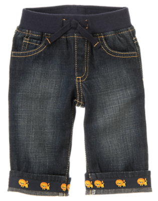 Denim Lion Cuffed Jean by Gymboree