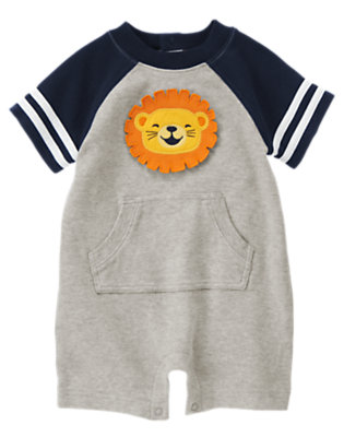 Heather Grey Lion Shortie One-Piece by Gymboree