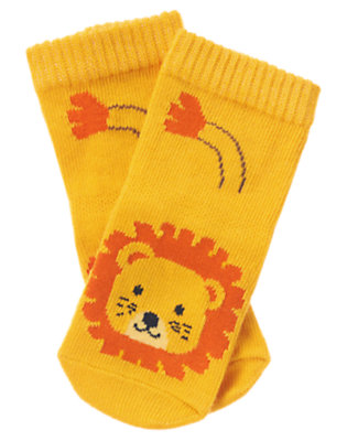 Lion Orange Lion Sock by Gymboree
