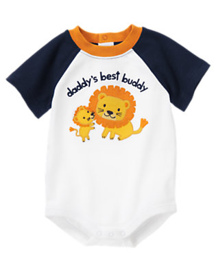 White Daddy's Best Buddy Bodysuit by Gymboree