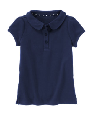 Girls Navy Uniform Polo Shirt by Gymboree