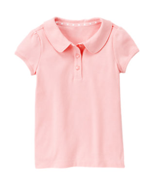 Girls Marshmallow Pink Uniform Polo Shirt by Gymboree
