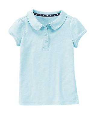 Girls Blue Uniform Polo Shirt by Gymboree
