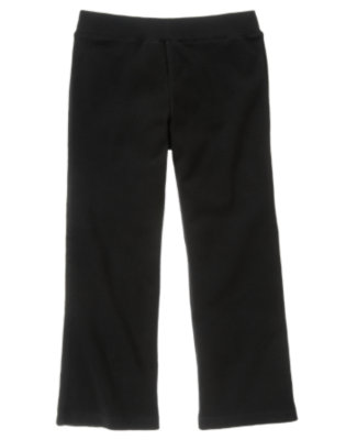 Girls Black Uniform Flare Pant by Gymboree