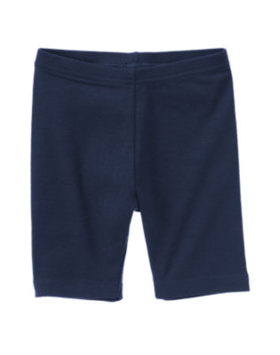 Girls Navy Uniform Bike Short by Gymboree