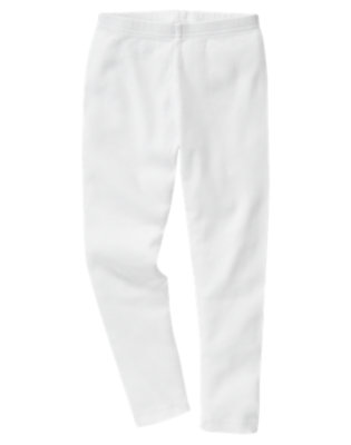 Girls White Legging by Gymboree