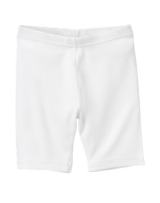 Girls White Uniform Bike Short by Gymboree