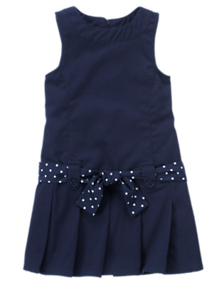 Girls Navy Uniform Pleated Jumper by Gymboree