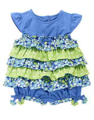 Butterfly Blue Butterfly Tiered Two-Piece Set by Gymboree