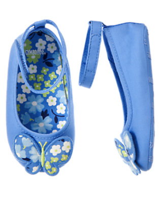 Butterfly Blue Butterfly Crib Shoe by Gymboree