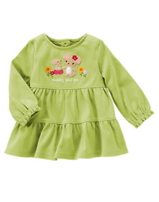 Leaf Green Mommy Mouse Tiered Top by Gymboree