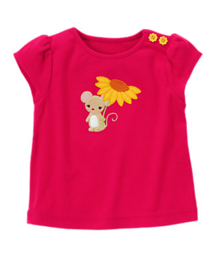 Fuchsia Pink Sunflower Mouse Tee by Gymboree