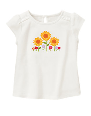 Ivory Sunflower Garden Tee by Gymboree