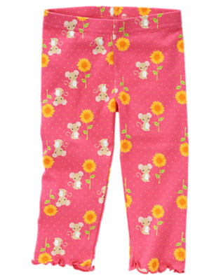 Pretty Pink Sunflower Mouse Legging by Gymboree