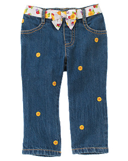 Sunflower Sash Jean