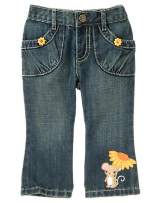 Denim Sunflower Mouse Jean by Gymboree