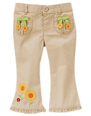 Khaki Sunflower Khaki Pant by Gymboree
