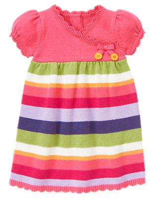 Toddler Girls Pretty Pink Stripe Stripe Sweater Dress by Gymboree
