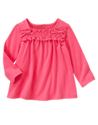 Pretty Pink Smocked Long Sleeve Top by Gymboree