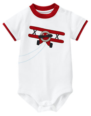 White Plane Bodysuit by Gymboree