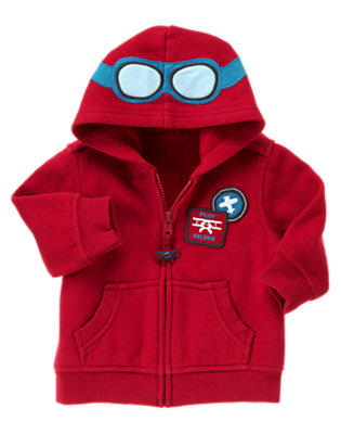Brick Red Pilot Hoodie by Gymboree