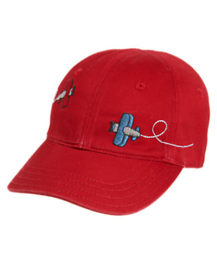 Brick Red Plane Baseball Cap by Gymboree