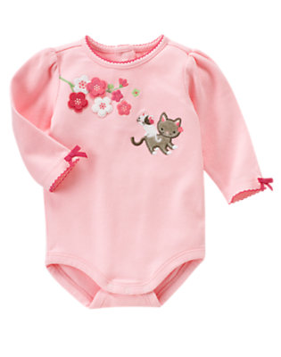 Blossom Pink Blossom Kitty Bodysuit by Gymboree