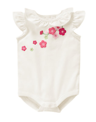 Ivory Embroidered Blossom Bodysuit by Gymboree
