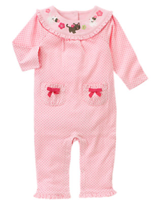 Blossom Pink Dot Kitty Dot One-Piece by Gymboree
