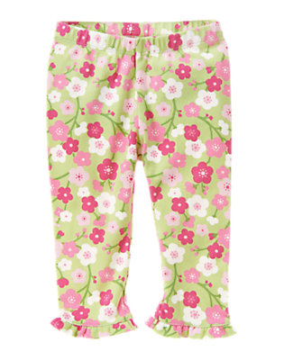 Foam Green Floral Blossom Ruffle Pant by Gymboree