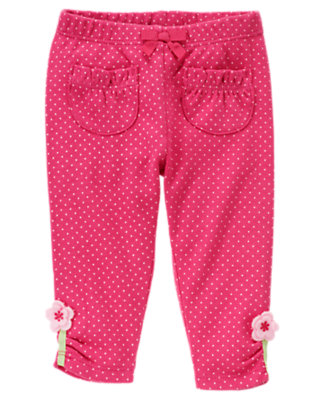 Baby Fuchsia Rose Dot Blossom Dot Legging by Gymboree