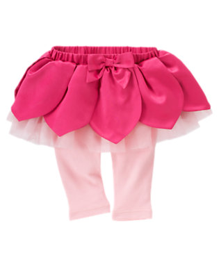 Baby Fuchsia Rose Blossom Petal Skirted Legging by Gymboree
